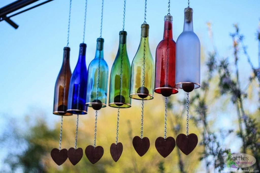 decoracion con botellas